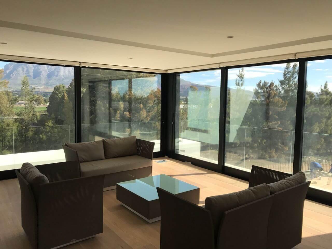 frameless glass windows