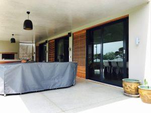 windows on a patio